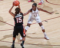 STANFORD, CA - January 7, 2012: Stanford Cardinal's Chiney Ogwumike during Stanford's 67-60 victory over Oregon State at Maples Pavilion in Stanford, California.