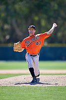 Baltimore Orioles pitcher Matt Taylor (43) delivers a pitch during a minor league Spring Training game against the Boston Red Sox on March 16, 2017 at the Buck O'Neil Baseball Complex in Sarasota, Florida.  (Mike Janes/Four Seam Images)