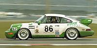The #86 Porsche 964 Carerra RSR of Danny Marshall, Peter Chambers, Martyn Konig, and Steve Marshall races to a 15th place finish in the 24 Hours of Daytona, IMSA race, Daytona International Speedway, Daytona Beach , FL, February 4, 1996.  (Photo by Brian Cleary/www.bcpix.com)