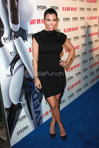Kourtney Kardashian arrives to the Svedka Vodka's 'R.U. Bot Or Not?' Battle Of The Bots party held at Wonderland in Los Angeles, California. May 22, 2010.Credit: Dennis Van Tine/MediaPunch