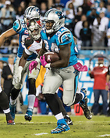 Charlotte, NC - October 10, 2016: The Carolina Panthers play the Tampa Bay Buccaneers at Bank of America Stadium.  Final score Tampa Bay 17, Carolina 14.