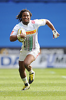 Marland Yarde of Harlequins in space during the Aviva Premiership match between London Irish and Harlequins at the Madejski Stadium on Sunday 1st May 2016 (Photo: Rob Munro/Stewart Communications)