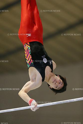 Naoto Hayasaka, <br /> MAY 17, 2015 - Artistic Gymnastics : <br /> The 54th NHK Cup <br /> Men's Individual All-Around <br /> Horizontal Bar <br /> at Yoyogi 1st Gymnasium, Tokyo, Japan. <br /> (Photo by YUTAKA/AFLO SPORT)