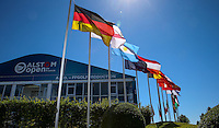 Colourful display of flags beside the grandstand during the preview days of the 2015 Alstom Open de France, played at Le Golf National, Saint-Quentin-En-Yvelines, Paris, France. /30/06/2015/. Picture: Golffile | David Lloyd<br /> <br /> All photos usage must carry mandatory copyright credit (&copy; Golffile | David Lloyd)