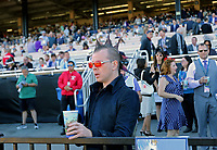 DEL MAR, CA - NOVEMBER 04: Fans get ready to watch the Breeders' Cup Filly & Mare Sprint race on Day 2 of the 2017 Breeders' Cup World Championships at Del Mar Racing Club on November 4, 2017 in Del Mar, California. (Photo by Sue Kawczynski/Eclipse Sportswire/Breeders Cup)