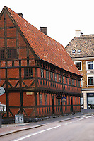 Jacob Hansens hus, Storgatan Jacob Hansens Hus on Norra Storgatan built 1641, the oldest non-religious house in the city. Helsingborg, Skane, Scania. Sweden, Europe.