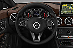 Car pictures of steering wheel view of a 2019 Mercedes Benz CLA CLA250 5 Door SUV