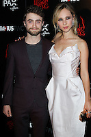 HOLLYWOOD, LOS ANGELES, CA, USA - OCTOBER 30: Daniel Radcliffe, Juno Temple arrive at the Los Angeles Premiere Of RADiUS-TWC's 'Horns' held at ArcLight Hollywood on October 30, 2014 in Hollywood, Los Angeles, California, United States. (Photo by Celebrity Monitor)
