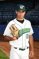 June 27th 2008:  Drew Clothier of the Jamestown Jammers, Class-A affiliate of the Florida Marlins, during a game at Russell Diethrick Park in Jamestown, NY.  Photo by:  Mike Janes/Four Seam Images
