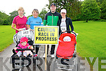 Front L-R Shanna O'Sullivan from Farranfore, Clara O'Brien from Fieries, Top L-R Colette Flynn from Fieries, Chris O'Sullivan from Farranfore, Malcolm O'Brien from Fieries, and Marie Corbett from Fieries at the Bee for Battens 5k run in the Killarney National Park last Saturday morning.