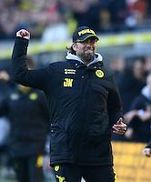Fussball 1. Bundesliga :  Saison   2010/2011   32. Spieltag  21.04.2012 Borussia Dortmund - Borussia Moenchengladbach Jubel nach dem Tor zum 2:0, Trainer Juergen Klopp (Borussia Dortmund)