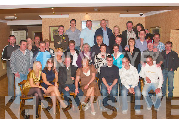 Martin Flaherty seated third from left, from Leanamore, Ballylongford  and Moyvane celebrated his 50th birthday with family and friends in Kirby's Lanterns Hotel on Saturday night   Copyright Kerry's Eye 2008