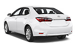 Car pictures of rear three quarter view of a 2014 Toyota Corolla Comfort 4 Door Sedan 2WD Angular Rear