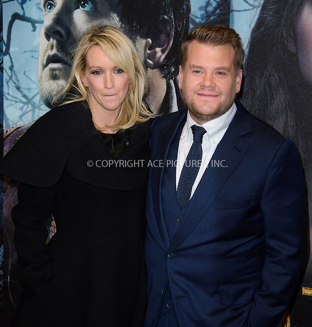WWW.ACEPIXS.COM<br /> <br /> January 7 2015, London<br /> <br /> Julia Carey and James Corden attending the UK Gala Screening of 'Into The Woods' at the Curzon Mayfair on January 7 2015 in London<br /> <br /> By Line: Famous/ACE Pictures<br /> <br /> <br /> ACE Pictures, Inc.<br /> tel: 646 769 0430<br /> Email: info@acepixs.com<br /> www.acepixs.com