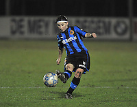 Club Brugge Dames - WB Sinaai Girls : Lies Van Hamme.foto DAVID CATRY / Vrouwenteam.be