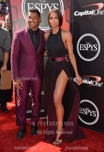 Ciara &amp; Russell Wilson at the 2015 ESPY Awards at the Microsoft Theatre LA Live.<br /> July 15, 2015  Los Angeles, CA<br /> Picture: Paul Smith / Featureflash
