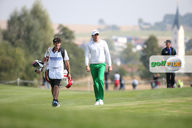 Benjamin Hebert (FRA) heads down the 18th during the Second Round of the Porsche European Open 2015 played at Golf Resort Bad Griesbach, Bad Griesbach, Germany.  25/09/2015. Picture: Golffile | David Lloyd<br /> <br /> All photos usage must carry mandatory copyright credit (&copy; Golffile | David Lloyd)