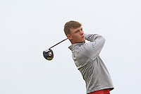 Connor Wilson (SCO) on the 1st tee during Round 1of the Flogas Irish Amateur Open Championship 2019 at the Co.Sligo Golf Club, Rosses Point, Sligo, Ireland. 16/05/19<br /> <br /> Picture: Thos Caffrey / Golffile<br /> <br /> All photos usage must carry mandatory copyright credit (© Golffile | Thos Caffrey)
