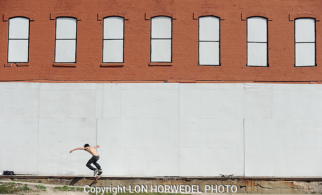 Pictures of the year 2012: Skateboarder in Depot Town.