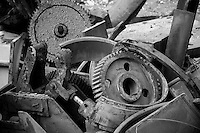 Industrial Machinery - Remnants of the industrial revolution - retired and scrapped foundry and steel mill machinery