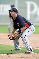 Minnesota Twins first baseman Trey Vavra during an Instructional League game against the Boston Red Sox on September 26, 2014 at jetBlue Park at Fenway South in Fort Myers, Florida.  (Mike Janes/Four Seam Images)