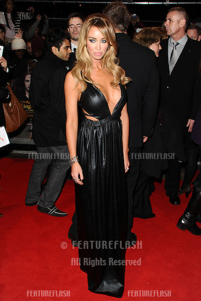 """Lauren Pope arriving for the """"The Twilight Saga: Breaking Dawn Part 2"""" premiere at the Odeon Leicester Square, London. 14/11/2012 Picture by: Steve Vas / Featureflash"""