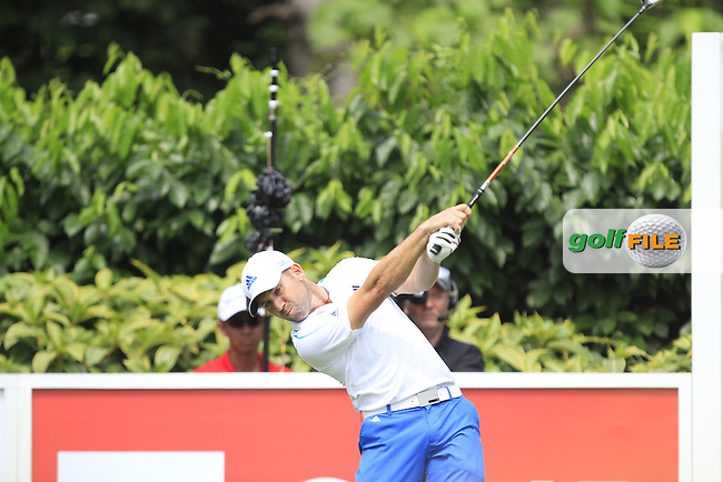 Sergio Garcia (ESP) on the 5th tee during Round 4 of the CIMB Classic in the Kuala Lumpur Golf &amp; Country Club on Sunday 2nd November 2014.<br /> Picture:  Thos Caffrey / www.golffile.ie