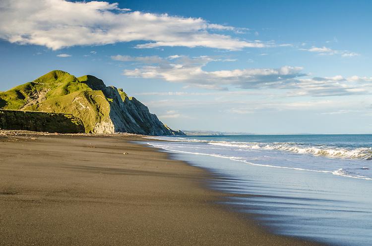 Waihua Beach, Hawkes Bay, New Zealand - stock photo, canvas, fine art print