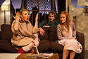 London, UK. 17.07.2014. Mountview Academy of Theatre Arts presents THE HOUSE OF BLUE LEAVES, by John Guare, directed by Jacqui Somerville, at the Unicorn Theatre, as part of the Postgraduate Season 2014. Picture shows: Cat Losty (Bunny Flingus), Tim Gibson (Artie Shaughnessy) and Rosalinde Case (Bananas Shaughnessy). Photograph © Jane Hobson.