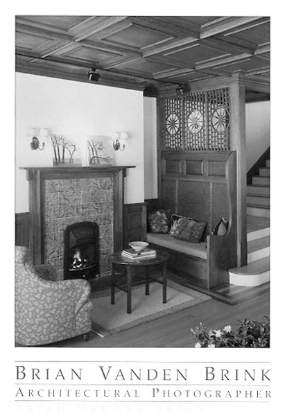 INGLENOOK<br /> Stonecroft Cottage<br /> Circa 1884<br /> Falmouth, Maine<br /> John Calvin Stevens, Architect &copy; Brian Vanden Brink, 2004
