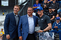 Verizon IndyCar Series<br /> Indianapolis 500 Drivers Meeting<br /> Indianapolis Motor Speedway, Indianapolis, IN USA<br /> Saturday 27 May 2017<br /> Starter's ring presentation: Scott Dixon, Chip Ganassi Racing Teams Honda<br /> World Copyright: F. Peirce Williams