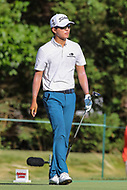 Bethesda, MD - July 1, 2017: Michael Kim walks off the tee during Round 3 of professional play at the Quicken Loans National Tournament at TPC Potomac in Bethesda, MD, July 1, 2017.  (Photo by Elliott Brown/Media Images International)