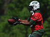Teddy Bridgewater #5, New York Jets quarterback, takes a snap during OTAs held at the Atlantic Health Jets Training Center in Florham Park, NJ on Tuesday, May 29, 2018.