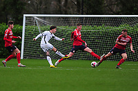 Barrie McKay of Swansea City u23s' has a shot during the Premier League 2 Division Two match between Swansea City u23s and Middlesbrough u23s at Swansea City AFC Training Academy  in Swansea, Wales, UK. Monday 13 January 2020.