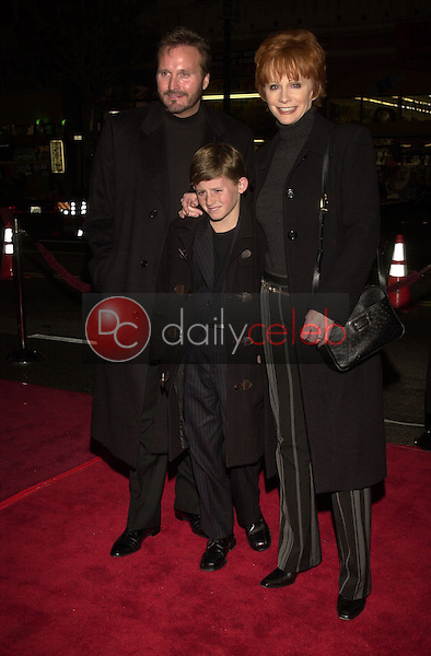 Reba McEntire with husband and son
