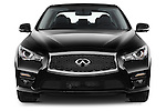 Car photography straight front view of a 2015 Infiniti Q50 Sport 4 Door Sedan
