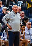 WATERBURY, CT. 11 January 2020-011120BS22 - Crosby head coach Nick Augelli looks on from the bench, during a NVL cross city Boys Basketball game between Sacred Heart and Crosby at the Palace at Crosby High in Waterbury on Saturday. Bill Shettle Republican-American