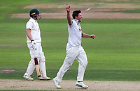 Matt Coles of Essex celebrates taking the wicket of Ben Druckett during Nottinghamshire CCC vs Essex CCC, Specsavers County Championship Division 1 Cricket at Trent Bridge on 10th September 2018
