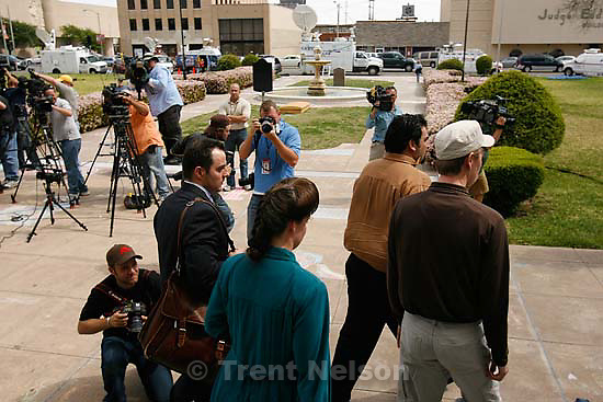 """San Angelo -  A hearing at the 51st District Court Wednesday, April 9, 2008, where a judge ruled three members of the FLDS polygamous sect have the legal right to challenge the massive search underway on their property near Eldorado, the YFZ """"Yearning for Zion"""" Ranch.; 04.09.2008 mike terry"""