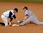 8 September 2006: Ryan Zimmerman (right), third baseman for the Washington Nationals, steals his 10th base of the season against the Colorado Rockies. The Rockies defeated the Nationals 11-8 at Coors Field in Denver, Colorado...Mandatory Photo Credit: Ed Wolfstein.