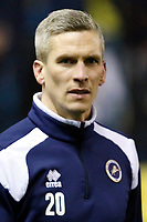 Steve Morison of Millwall warms up during the Sky Bet Championship match between Millwall and Queens Park Rangers at The Den, London, England on 29 December 2017. Photo by Carlton Myrie / PRiME Media Images.