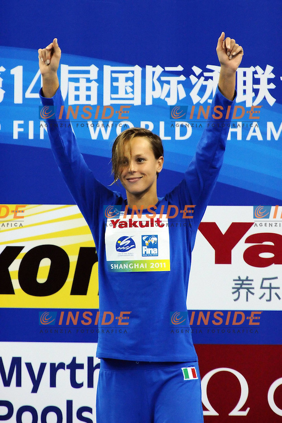 Federica Pellegrini Gold Medal - Medaglia d'oro.Women's 400m Freestyle - Swimming / Nuoto.Shanghai 24/7/2011 .14th FINA World Championships.Foto Andrea Staccioli Insidefoto