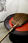 Tokyo, June 26 2013 -  Traditionnal bamboo brush at Takumi folkcraft shop in the Ginza area.