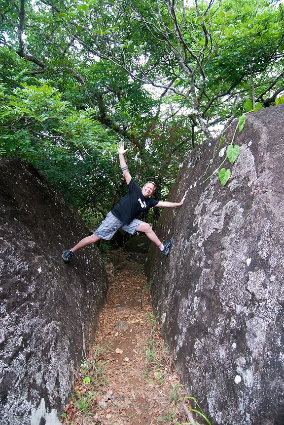 Playing on rocks, Boquete, Panama,Chiriqui Province