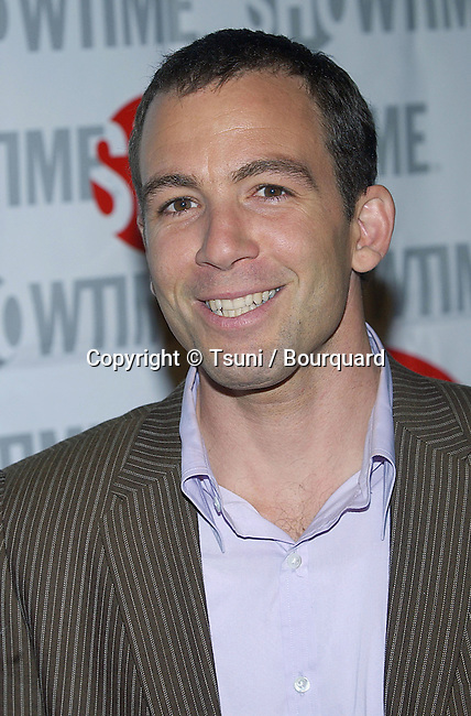 Bryan Callen arriving at the Showtime Star-Studded tca Press Tour stage 6 on Universal Studio Lot in Los Angeles. january 112, 2005.