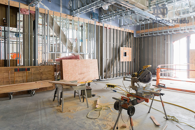March 8, 2017; O'Neill Hall 4th floor under construction (Photo by Matt Cashore/University of Notre Dame)