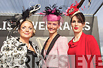 The three finalists for best dressed at Ladies Day last Friday in Listowel were l-r: Sharon Heffernan(Tralee), Geraldine Walsh(Kinsale) and winner Catherine Keane(Listowel)