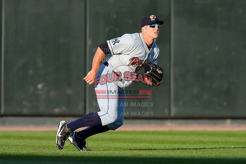 Scranton Wilkes-Barre RailRiders outfielder Cody Grice #17 during a game against the Rochester Red Wings on June 19, 2013 at Frontier Field in Rochester, New York.  Scranton defeated Rochester 10-7.  (Mike Janes/Four Seam Images)