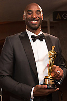 Oscar&reg; winner Kobe Bryant at the Governors Ball following the live ABC Telecast of The 90th Oscars&reg; at the Dolby&reg; Theatre in Hollywood, CA on Sunday, March 4, 2018.<br /> *Editorial Use Only*<br /> CAP/PLF/AMPAS<br /> Supplied by Capital Pictures