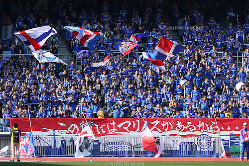 Yokohama F.Marinos fans, <br /> FEBRUARY 21, 2015 - Football / Soccer :<br /> 2015 J.League Pre-season match between <br /> Yokohama F Marinos 0-1 Matsumoto Yamaga FC <br /> at Nissan Stadium in Kanagawa, Japan. <br /> (Photo by Yohei Osada/AFLO SPORT) [1156]